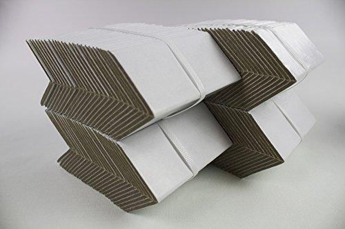 100 Kantenschutz Winkel Wellpappe Karton Pappe mit PVC Beschichtung, 50x50x100mm