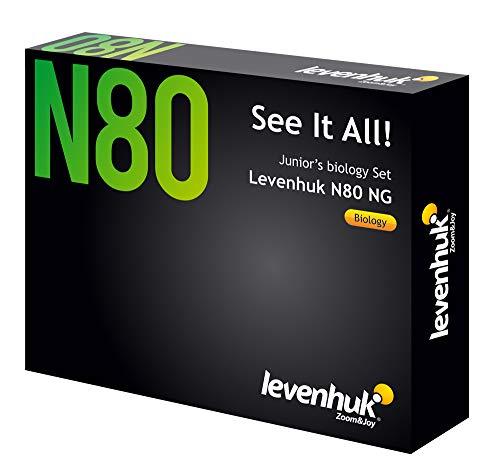 Levenhuk Set di 80 Vetrini Preparati per Microscopio N80 NG alla Scoperta del Mondo! con 20 Vetrini Vuoti, 20 Coprivetrini e Una Guida Completamente a Colori