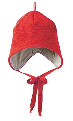 Disana Walkmütze aus Schurwolle , (02) 18-36 Monate, rot