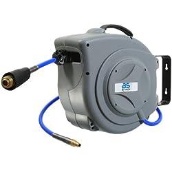 as-Schwabe 12613 Automatischer Druckluftschlauch-Aufroller mit 15 m hochflexiblem Polyurethan Druckluftschlauch