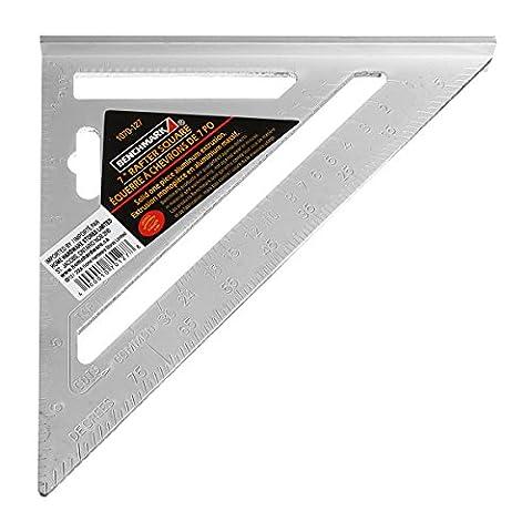Tutoy 7Inch Silber Aluminium-Legierung Geschwindigkeit Square Roofing Dreieck Winkel Winkelmesser Versuchen Square Carpenter'S (Geschwindigkeit Winkel)