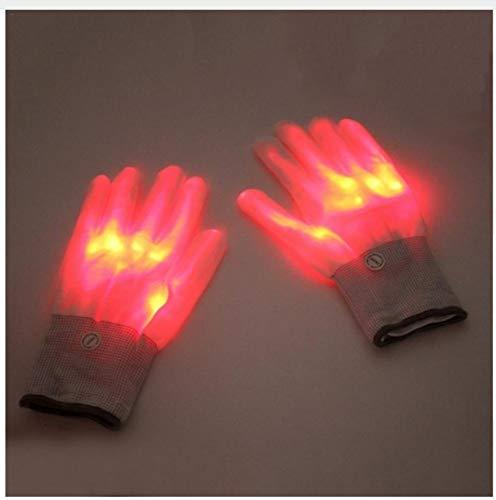 lampe Tischlampe Schreibtischlampe Tischleuchte 1 Paar Led-Licht Glühende Handschuhe Bunte Leuchtende Blinkende Skeletthandschuhe Halloween Bühne Kostüm Urlaub Veranstaltungen ()