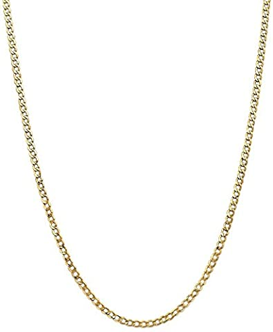 IceCarats 14k Yellow Gold 3.35mm Curb Cuban Link Chain Necklace