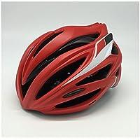 Flowerrs Casco Scooter Casco de Bicicleta de montaña Ajustable para Adultos Casco de una Pieza Casco de Bicicleta de montaña (Rojo + Negro) Skate Helmet