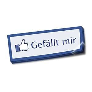 """""""Gefällt mir"""" Aufkleber / Sticker (20 Stk.)"""