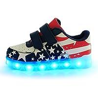 LED 7 Colori Cambi- Sneaker Scarpe Bambini Bambina Unisex Collo Basso , Presa USB Ricarica Sport Regali Originali Compleanno Natale Ragazza Ragazzi Scarpe Piatte