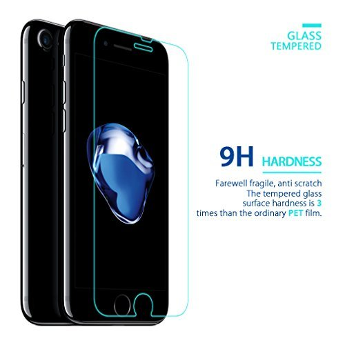 AveCra ''Apple iPhone 7'' (0.3mm Pro+ 2.5D Curved Edges Premium ''FRONT/BACK'' Tempered Glass Screen Protector)