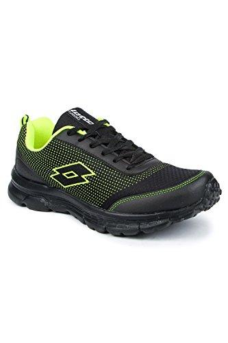 Lotto Men's Splash Black/Lime Running Shoes