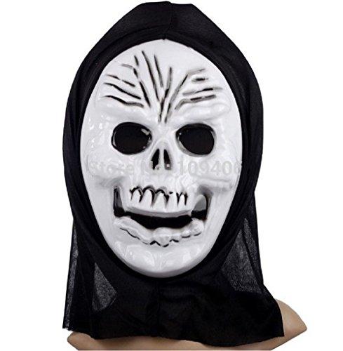 Inception pro infinite ♛ maschera per costume travestimento carnevale halloween da scheletro zombi mostro morte ossa colore bianco adulti uomo ragazzo