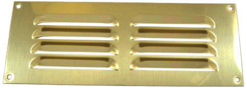 Bulk Hardware - Griglia di aerazione, 229 x 77 mm, in ottone lucidato