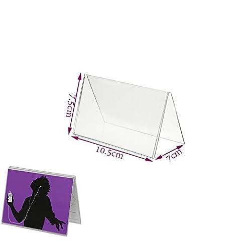 En Acrylique Transparent Menu Show Carte Nom Place Table affichage