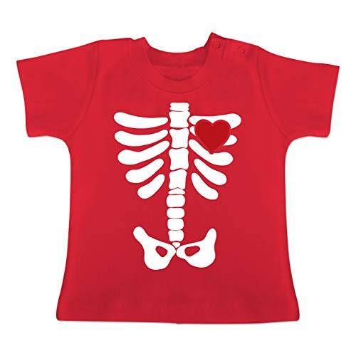 ett Herz Halloween Kostüm - 12-18 Monate - Rot - BZ02 - Baby T-Shirt Kurzarm ()