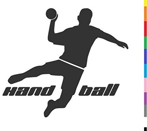 generisch Handball Aufkleber in 10cm, 15cm, 20cm oder 25cm Handball Sport Aufkleber Sticker als Autoaufkleber oder Wandtattoo in vielen Farben (255/2) (Farbauswahl aus Farbtabelle, 10cm)