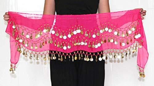 Kostüm Bauchtänzerin Rosa - HorBous Bauchtanz Chiffon-Hüfttuch Bauchtänzerin Kostüme für Frauen 5 Farben (Rosa)