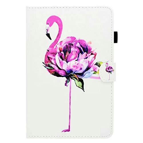 Coopay kompatibel mit New iPad Mini 5 2019 Hülle Lederhülle,Ultradünne 360 Grad Kunstleder Smart Cases Cover Schutzhülle,Stoßfest Ständer mit Weich Rückseite Etui Bumper,Muster Rosa Blumen Flamingo - Ipad Cases Blumen Generation 2.