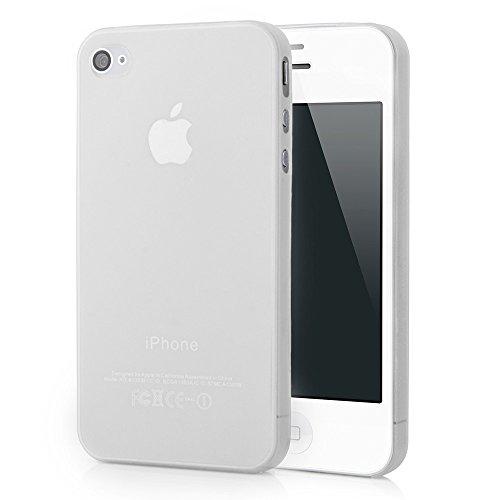 HOGO. iPhone 4/4s Ultra Slim Case - Schutzhülle - Mega Slim in Weiß - Ultra dünne iPhone Hülle - Leicht transparentes iPhone Case - ultra thin - iPhone Cover