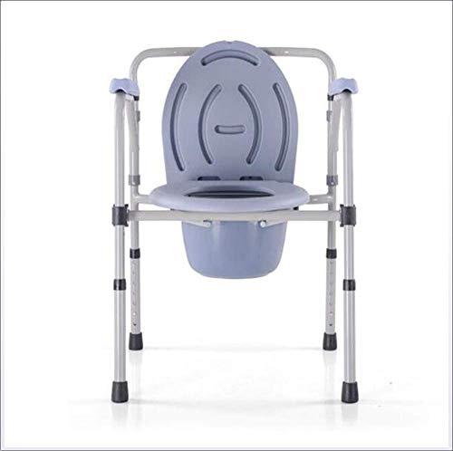 LNDDP Chaise Toilette Baignoire Hauteur Réglable Douche Siège Toilette Chaise Réadaptation Assistée Médicale Old Man & Amp;Obstacle au déménagement indépendant ou aux Toilettes