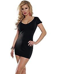 HYW Traje de Escenario Sex Lady Club Lencería Sex Profundo V Grande Desnudo Nuevo Lanzamiento Su Belleza,Negro,Código Promedio