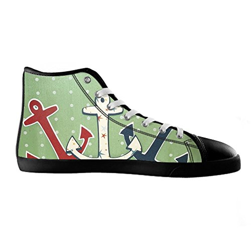 Dalliy Blue ocean Anchor Women's Canvas Shoes Lace-up High-top Footwear Sneakers Chaussures de toile Baskets D