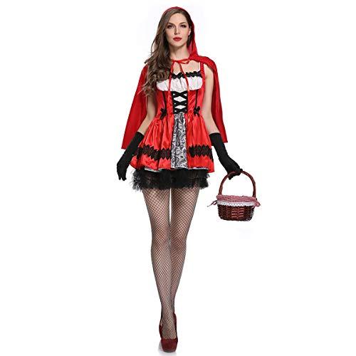 Hexe Vintage Kostüm Für Erwachsenen - Rotkäppchen Märchenschloss Kleid Vampir Halloween Hexe Kostüm Palast Vintage Kleid Cape Mantel Sexy Königin Erwachsenen Punk Gothic Mittelalter Party Karneval Cosplay Karneval Bühne Tarnung
