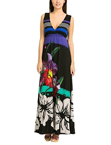 Desigual Damen A-Linie Kleid INFINITO REP, Gr. 36/S (Herstellergröße: M), Schwarz (Negro 2000)