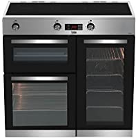 Beko KDVI90X 90cm Induction Range Cooker in Stainless Steel 5 Hotplate Burners