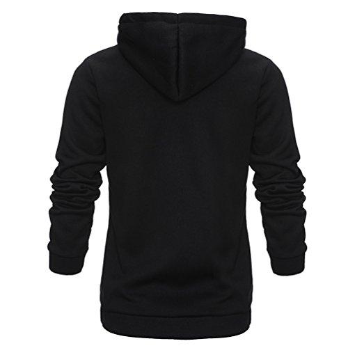 WanYang Sweatshirt à Capuche pour Femmes Side Zip Manteau T-shirts Tops Casual Hoodie Pull Veste Noir