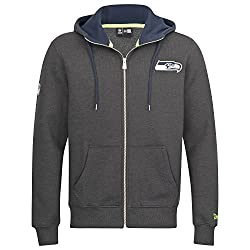 New Era Men Overwear Zip Hoodie Seattle Seahawks Grey S