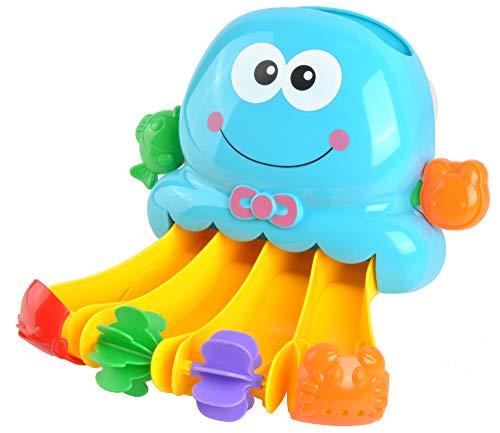 Iso Trade Badespielzeug Wasserfall Krake Station-Dusche-Pool Badezimmer-Spielzeug für BabysOktopus Saugnapf Krake Dusche Spielzeug für Kinder Wasserstation 7487