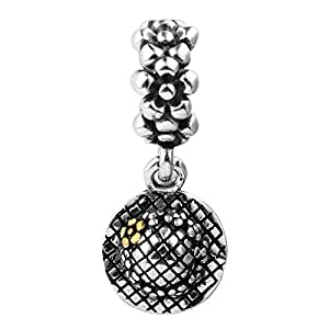 ANNYMORE sterlina 925 argento charms ciondoli pendente beads perline - girasole, fit collana bracciali europeo