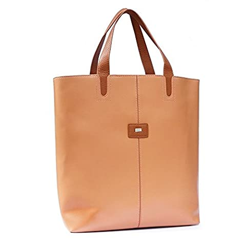 Tuff-Luv TLC Ladies 'Mila' Business Tote Bag for 13 inch Laptop/Tablet - Tan/Brown