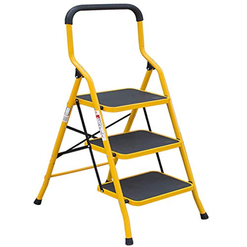 Haushalts-faltende Erweiterungs-Leiter - Armlehne Zwei Schritte Drei Schritte Vier Schritte Fünfschritt-Leiter, Der Breite Pedal-Hering-Leiter-Treppe Verdickt (größe : Three step ladder)