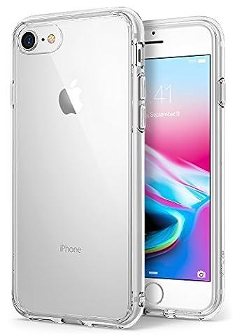 iPhone 8 Hülle, Ringke [FUSION] kristallklarer PC TPU Dämpfer (Fall geschützt/ Schock Absorbtions-Technologie) für das Apple iPhone8 - Kristallklar (Clear)