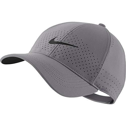 Nike U NK AROBILL L91 Cap Hat, Gunsmoke/Black, One - Nike Classic Women Tennis