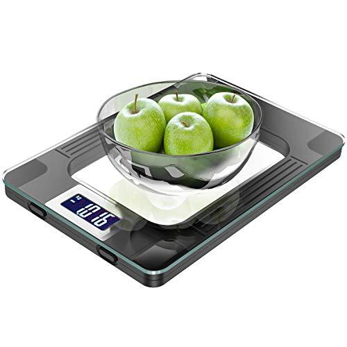 Báscula de Cocina, Escala de Cocina Digital de Alimentos con Capacidad Máxima de 15 KG,Peso de Cocina...