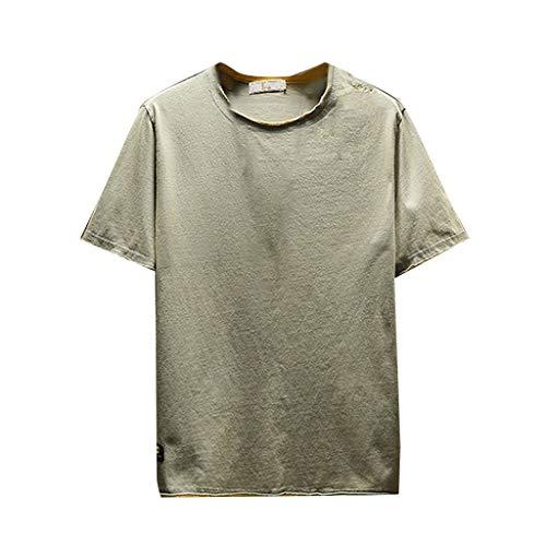 KPILP Herren Mode Herbst Winter Übergröße Langärmeliger Brief gedruckt Hip Pop Sweatshirt Loose Hoodie Tops Bluse(X1-grün,XL) - Top Dc Ac Tank