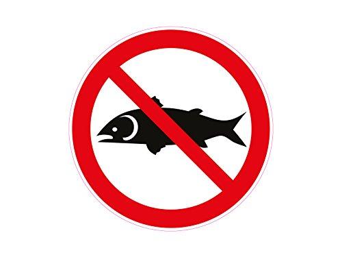 1 x Aufkleber Warnzeichen Angeln Verboten Fischen Fishing Forbidden Sticker NEU
