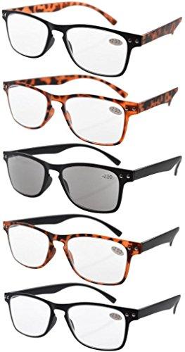 Eyekepper Gafas de sol de lectura 5-pack ultrafinas marco flexible de los 80 +0.5