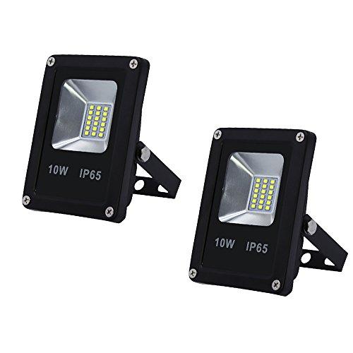 VINGO®2x LED 10W Außenstrahler 900LM Strahler Kaltweiß Wasserdicht Fluter Spot AC85-265V leuchtmittel SMD Scheinwerfer IP65