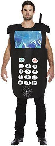 Herren Kostüm Damen Handy Telefon Jungfernabschied 80er 90er Verkleidung Party - Telefon Kostüm