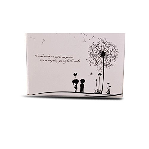 Debon DIY Fotoalbum mit Löwenzahn-Aufdruck, selbstklebend, Scrapbook, Geschenk für Baby, Paare, Absolventen, Eltern, Freunde