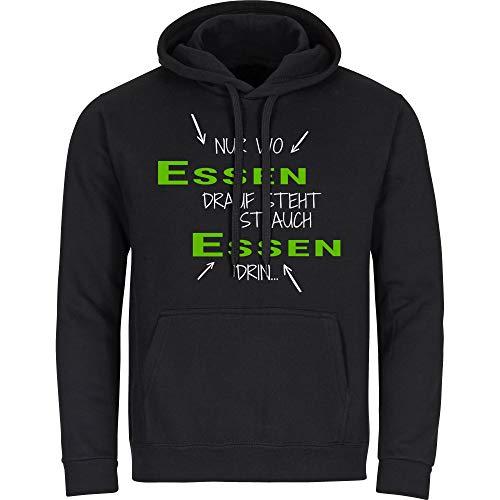 Kapuzen Sweatshirt Nur wo Celle drauf steht ist auch Celle drin schwarz Herren Gr. S bis 2XL, Größe:M