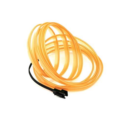 Swiftswan LED EL Wire Rope Lighting Weihnachten Licht Halloween Party Autobatterie Beleuchtet Flexibles Streifen Licht (Farbe: gelb) (Größe: ()