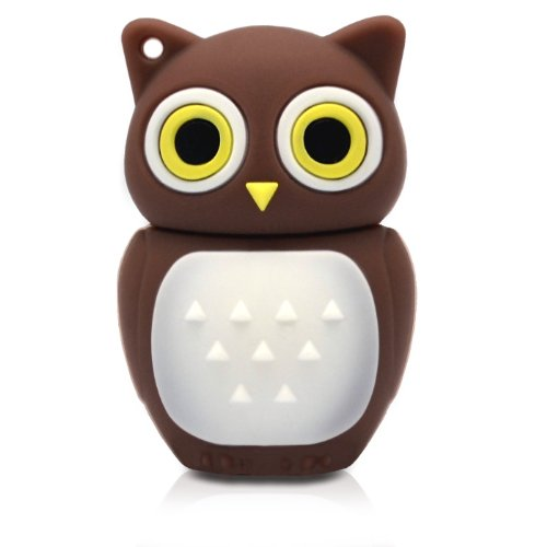 818-Shop No11400010008 Hi-Speed 2.0 USB-Sticks 8GB Eule Vogel Uhu 3D braun