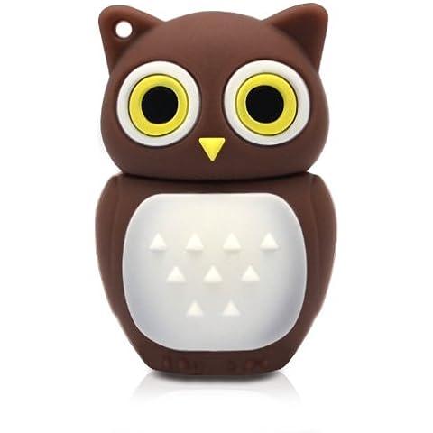 818-shop no11400010032 Hi-Speed 2.0 USB PenDrive 32GB uccello gufo reale 3D marrone