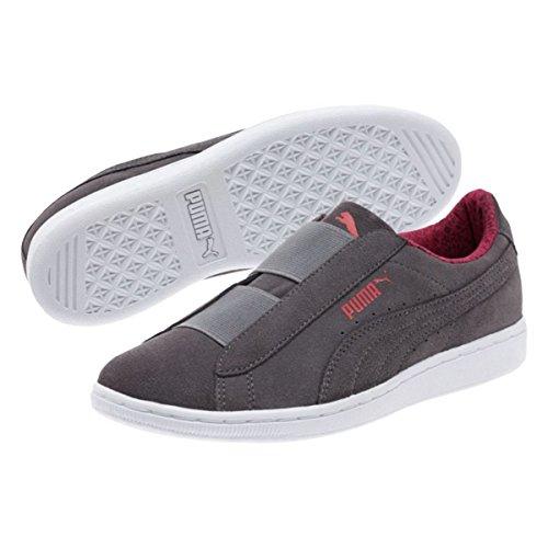 Puma Womens Puma Vikky Slip-On Fundamentals Shoes Quiet Shade-Puma White Size 7