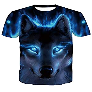 ZzSTX Print Männer Kurzarm T-Shirt 3D T-Shirt Casual Atmungsaktives T-Shirt Plus-Größe T-Shirt