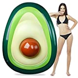 Aiduy Inflatable Avocado Lounger Gaint Pool Float with Ball Swimming Floaty Raft Beach