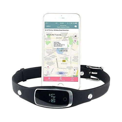 KOBWA GPS Tracker für Hunde mit Kostenloser APP für IOS & Android, Wasserdicht GSM AGPS Tracking-System Inklusive Halsband und Online-Tracking