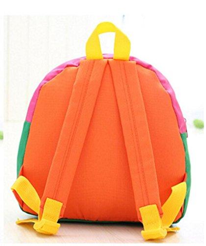 Koly Zaino del bambino Toddler Kid School Bags Kindergarten Sacchetti di spalla del fumetto (Yellow) Orange
